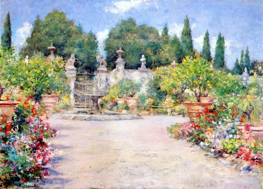 Chase_William_Merritt_An_Italian_Garden_1909