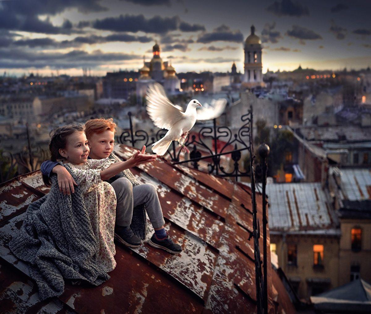 Pigeons_Roof_Bokeh_Boys_Little_girls_583468_1211x1024