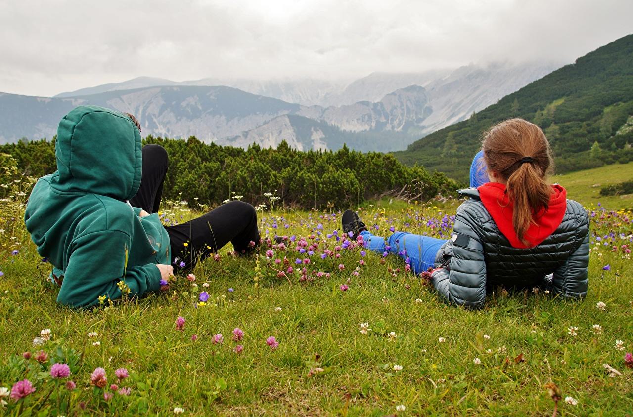 Mountains_Austria_Alps_Grass_Two_Redhead_girl_Rest_558312_1280x844